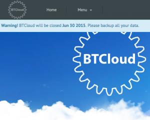 BTCloud tutup
