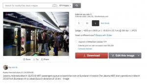 Shutterstock Editorial MRT Jakarta
