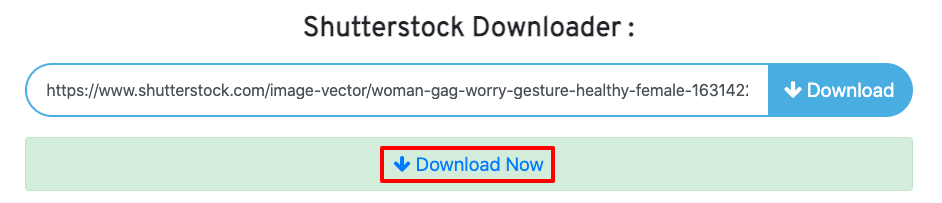 download gratis foto di shutterstock menggunakan downloader