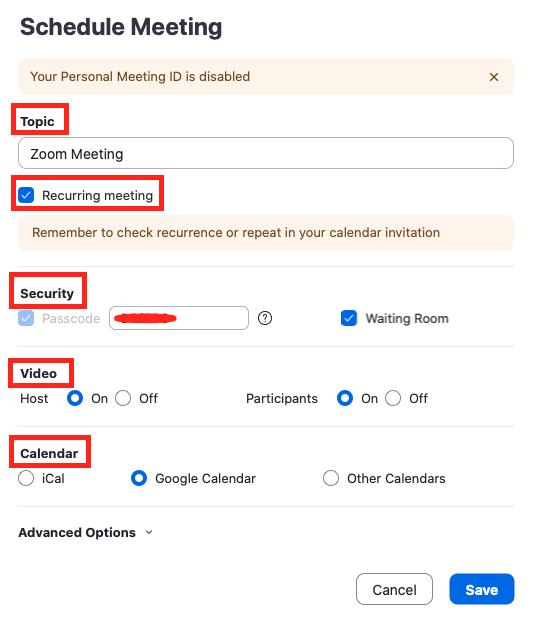 cara membuat schdule zoom meeting