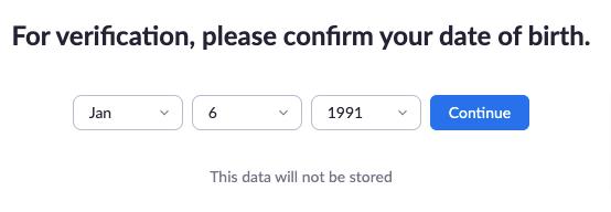 tanggal lahir untuk mendaftar zoom