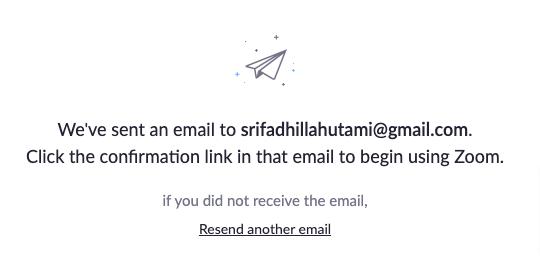 verfikasi email mendaftar email